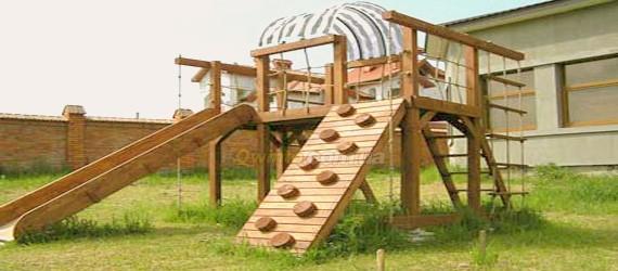 Как сделать детскую деревянную площадку